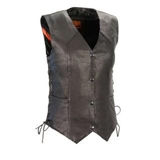Ladies Lightweight Side Lace Four Snap Vest