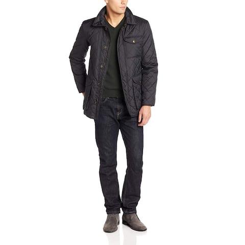 Hart Schaffner Marx Mens Jacket Blue Size Medium M Middlebury Quilt