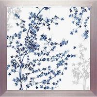 North American Art N2178 24 x 24 in. Blue Ivy Framed Art Print
