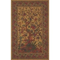 Handmade 100-percent Cotton Tree of Life Tapestry Tablecloth Bedspread Full 88x104 Gold