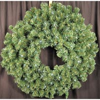 Christmas at Winterland WL-GWSQ-04-LPW 4 Foot Pre-Lit Pure White LED Sequoia Wreath Indoor / Outdoor - Pure White