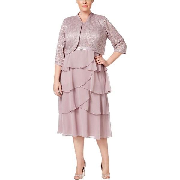 R&M Richards Womens Plus Dress With Jacket Lace 2PC - 20W