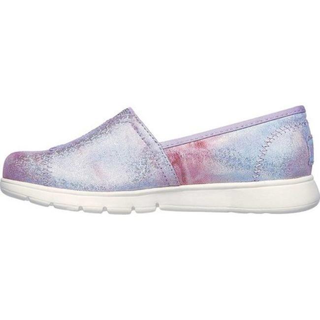 Skechers Girls' Lil BOBS Pureflex Galaxy Dust Alpargata LavenderMulti