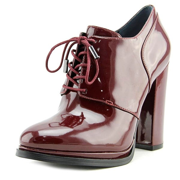 a08faeb7b43 Shop Guess Vorsila Pointed Toe Patent Leather Bootie - Free Shipping ...