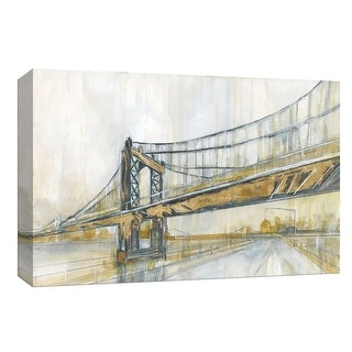"PTM Images 9-148369  PTM Canvas Collection 8"" x 10"" - ""Brooklyn Rain"" Giclee Cityscapes Art Print on Canvas"
