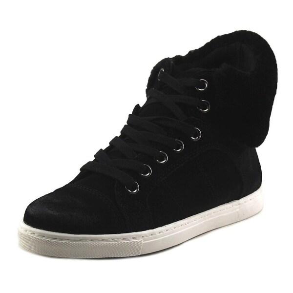 Splendid Sandra Women Round Toe Suede Black Sneakers