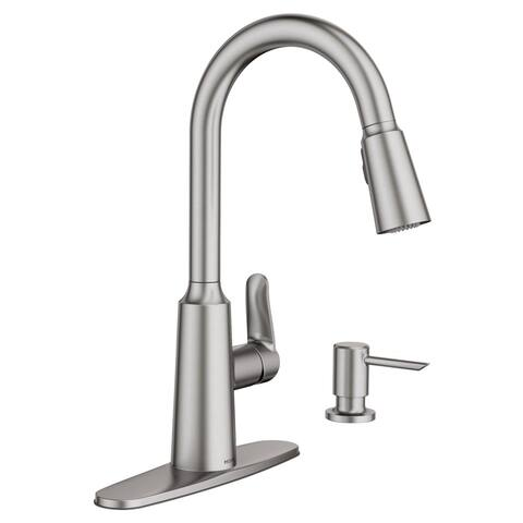 Moen 87028SRS Edwyn One-Handle High Arc Pull-Down Kitchen Faucet, Stainless