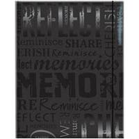 "Memories - Black - Embossed Gloss Expressions Photo Album 4.75""X6.5"" 100 Pocket"