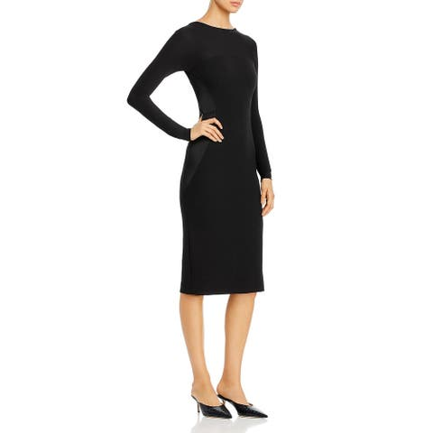 Donna Karan Womens Sheath Dress Scoop Back Cocktail - Black