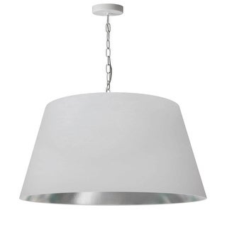 Link to 1LT Brynn Large Pendant, WHT/SV Shade, White Similar Items in Pendant Lights