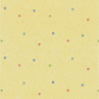 Brewster 443-KA49227 Abby Lee Yellow Flowers Wallpaper