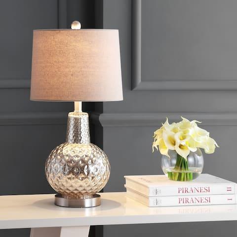 "SAFAVIEH Lighting Atlas 24-inch Glass LED Table Lamp - 12"" W x 12"" L x 24"" H"