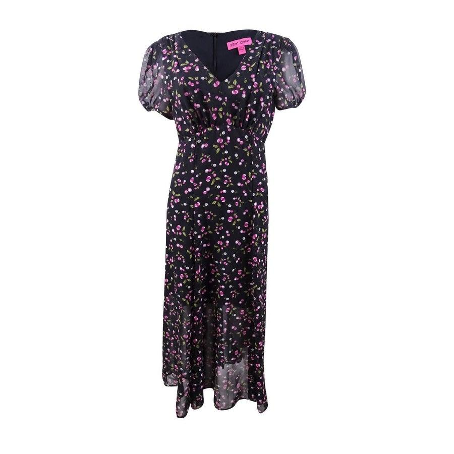 Betsey Johnson Women/'s Cherry-Print Dress