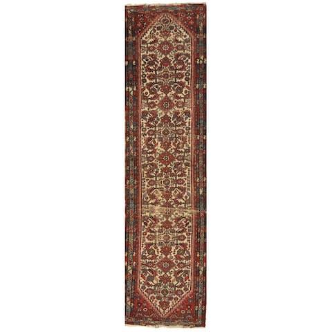 Handmade One-of-a-Kind 1920's Hamadan Wool Runner (Iran) - 2'5 x 9'6