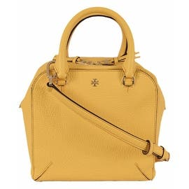Tory Burch Yellow Leather Robinson Mini Crossbody Satchel Purse|https://ak1.ostkcdn.com/images/products/is/images/direct/e38efa77ede51829d407357103080e0389d1df55/New-Tory-Burch-Yellow-Leather-Robinson-Mini-Crossbody-Satchel-Purse.jpg?impolicy=medium