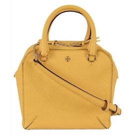 Tory Burch Yellow Leather Robinson Mini Crossbody Satchel Purse
