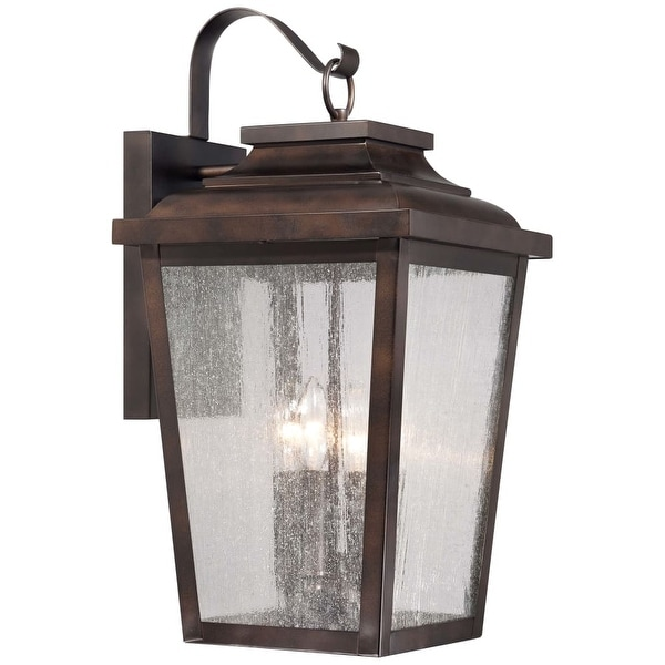 The Great Outdoors 72173-189 4-Light Outdoor Wall Sconce from the Irvington Manor Collection - chelesa bronze - n/a