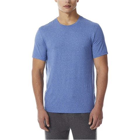 32 Degrees Mens Short-Sleeve Pajama Sleep T-shirt, blue, Small