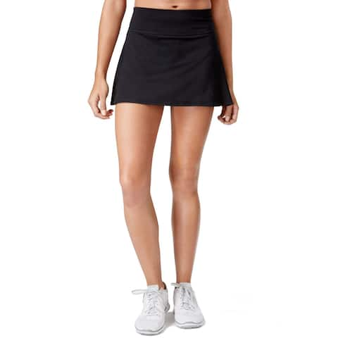 Ideology Women's Space-Dyed Performance Skort, Black (XS)