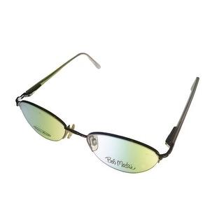 Bob Mackie Womens Opthalmic Eyeglass Oval Rimless #124 301 Silver Lilac - Medium