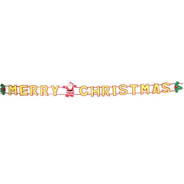 Merry Christmas Letters Santa Claus Head Detail Chirstmas Tree Decor Strap
