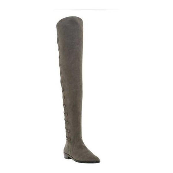 cba73dd5c17 Vince Camuto Women  x27 s Coatia Over the Knee Boot Graystone True Suede
