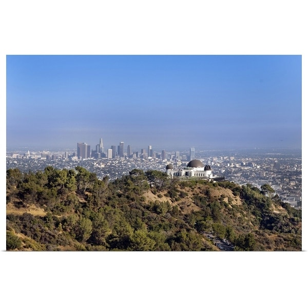 """A view from a hiking trail in Griffith Park of downtown Los Angeles."" Poster Print"