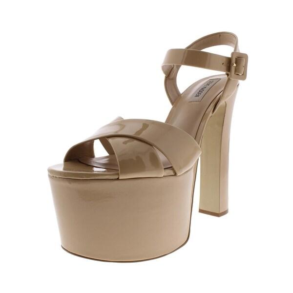 b73778fcf47 Steve Madden Womens Tammy Platform Sandals Patent Leather Heels