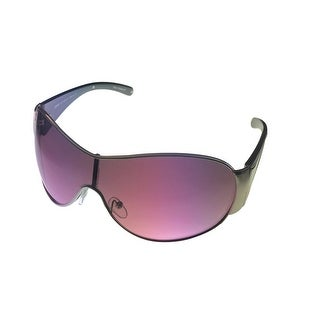 Esprit Womens Sunglass 19316 517 Silver Black Metal Shield Violet Gradient Lens - Medium