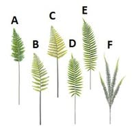 Set of 6 Assorted Green Artificial Decorative Fern Greenery Craft Sprays