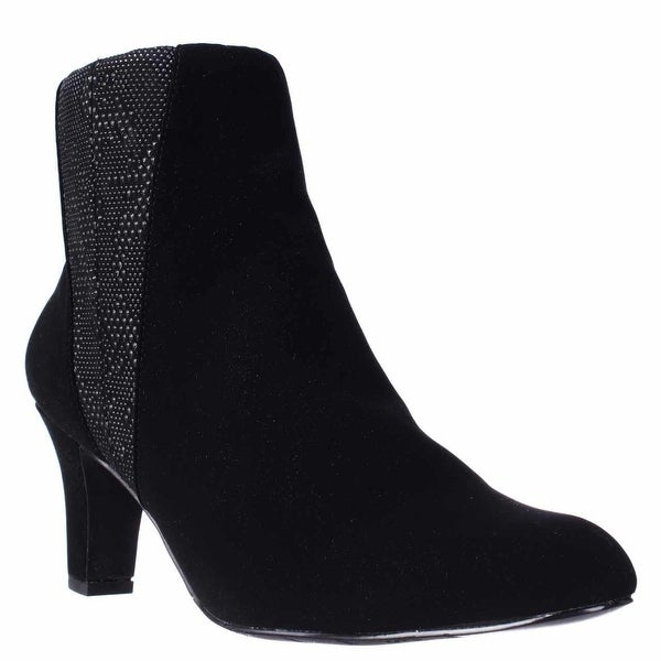 Easy Street Endear Dress Ankle Booties, Black.Black White