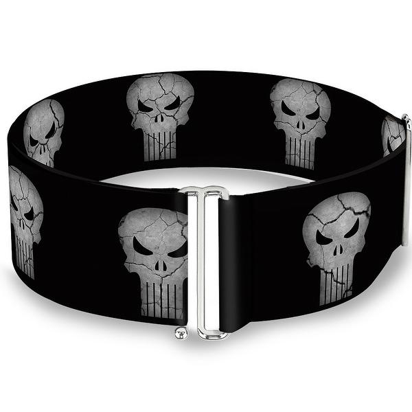 Stone Punisher Logo Black Gray Cinch Waist Belt ONE SIZE