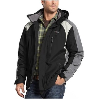 Weatherproof 32 Degrees Heat Mens Hydro-Tech Coat Small S Black and Gray