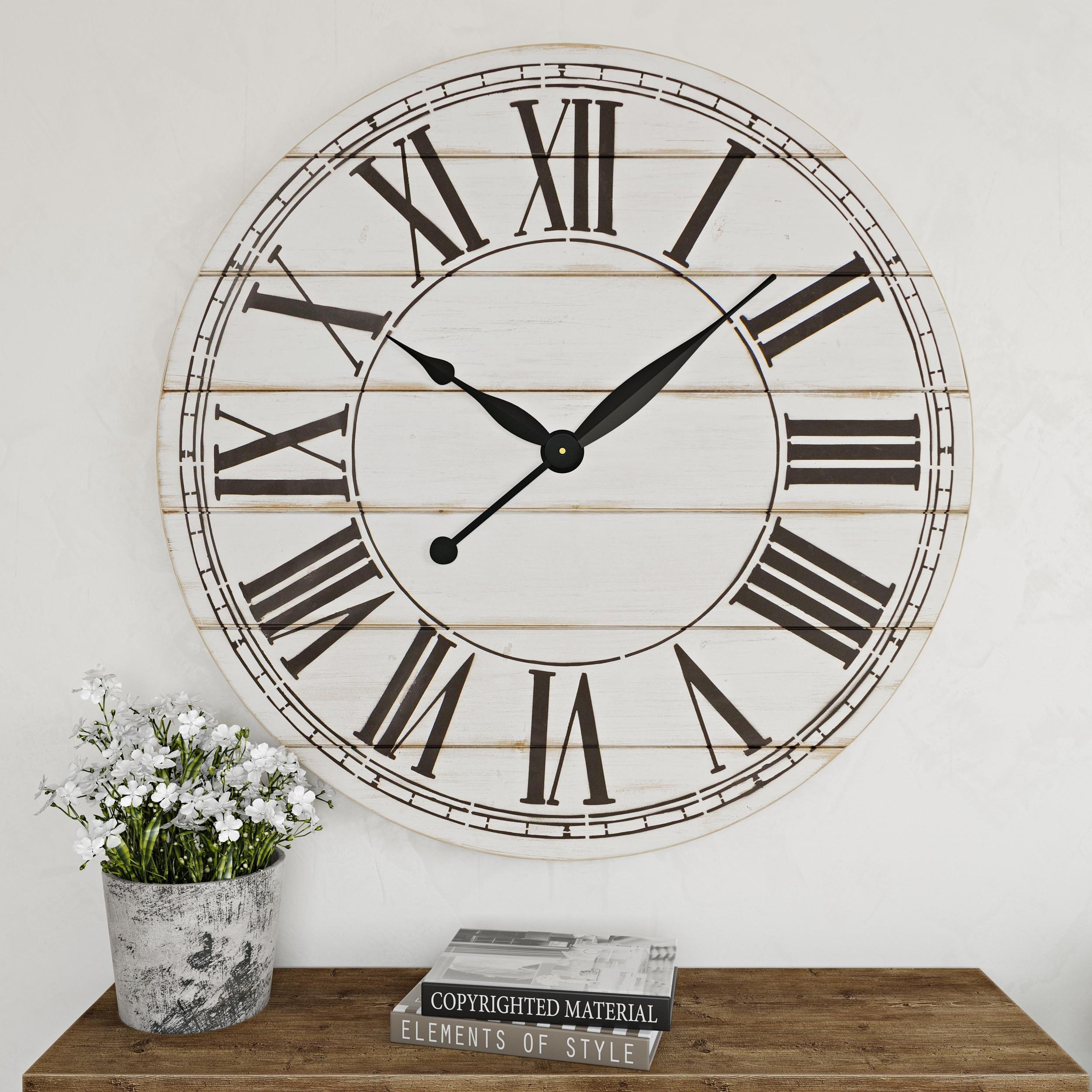 Shop The Gray Barn Oversize Shiplap Wall Clock 48 H X 48 W X 1 5 D Overstock 29045987