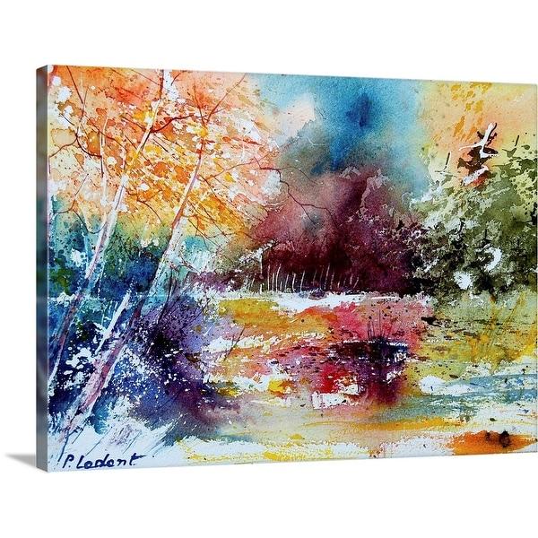 """""""Aqua 140908"""" Canvas Wall Art"""