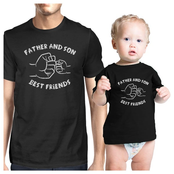 Father And Son Best Friends Black Matching Shirts Father's Day Gift