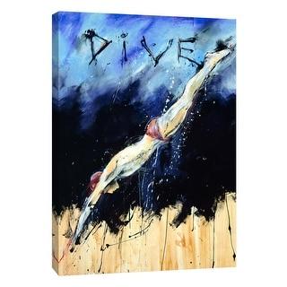 "PTM Images 9-106030  PTM Canvas Collection 10"" x 8"" - ""Dive"" Giclee Men Art Print on Canvas"