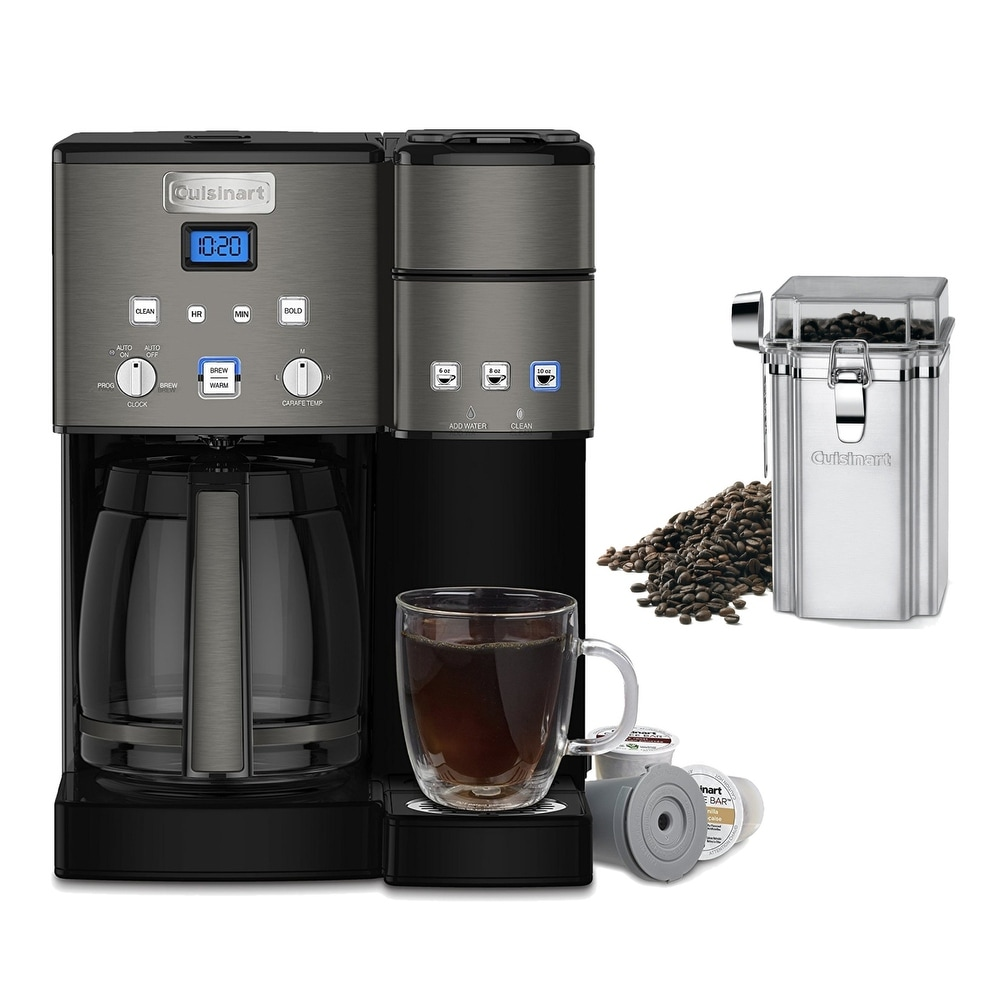 Cuisinart Ss 10 Premium Single Serve Coffeemaker Silver W Canister K Cups Silver Programmable Digital K Cup Shefinds