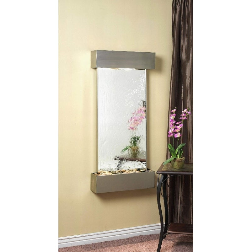 Adagio Cascade Springs Wall Fountain Silver Mirror Stainless Steel - CSS2040 - Thumbnail 0