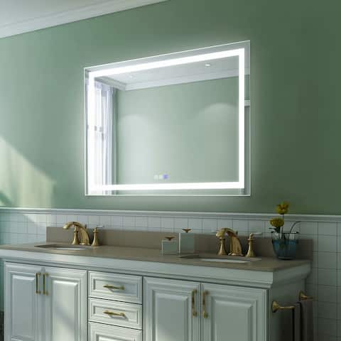 "36""×48""inch,Anti Fog,LED Lighted Bathroom Mirror - 48""×36"""
