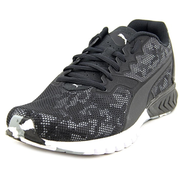 Puma Ignite Dual Camo Men Round Toe Synthetic Black Running Shoe