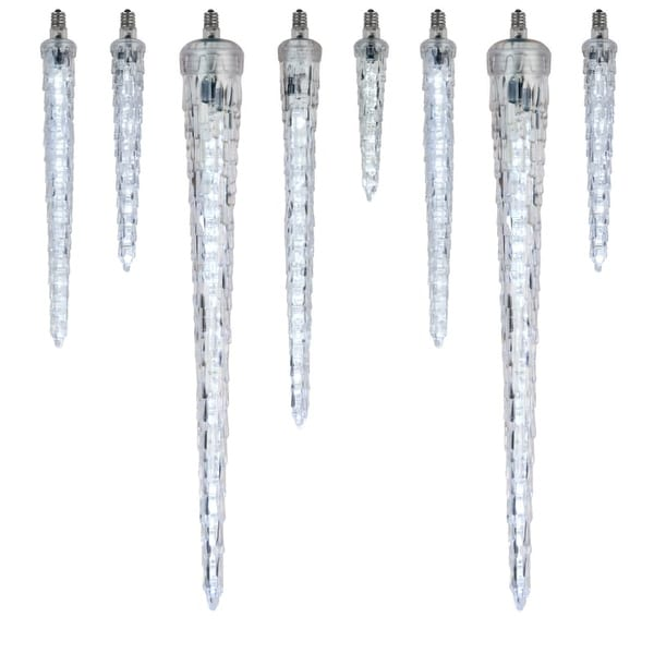 "Wintergreen Lighting 50164 12"" C7 Falling Icicle Cool White LED Light - Single Bulb"