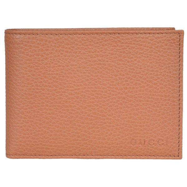 f3a1954e346 Shop Gucci Men s 292534 Saffron Tan Textured Leather W Coin Large Bifold  Wallet - 5.25 x 3.75 inches - On Sale - Free Shipping Today - Overstock -  15296739