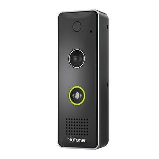 NuTone DCAM100 NuTone KNOCK Weatherproof Smart Video Doorbell with 720p HD Came - Black
