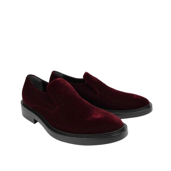 burgundy slip on dress shoes