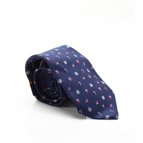Club Room Navy Blue Men's Oner Size Holiday Medley Silk Neck Tie