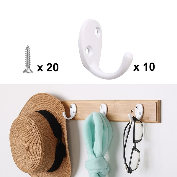 Foldable Hooks Wall Mount Hanger for Hanging Clothes Coat Headphones Aluminum Alloy Modern Wall Hook Black Plated