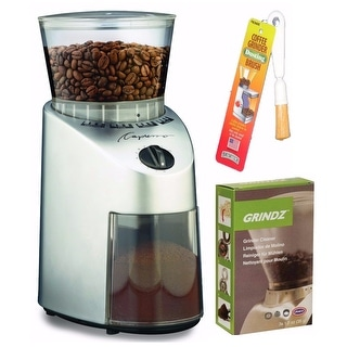 Capresso 560.04 Infinity Conical Burr Grinder with Grinder Cleaner and Brush