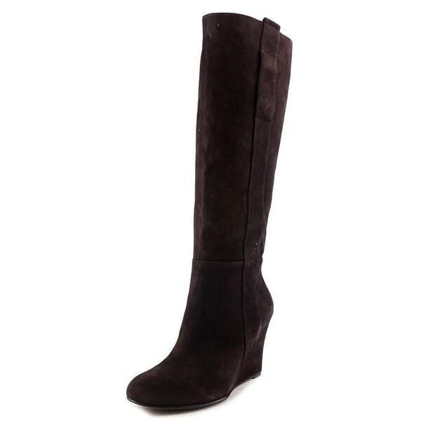 d5dd5920022b9 Shop Nine West Oran Women Round Toe Suede Brown Knee High Boot ...