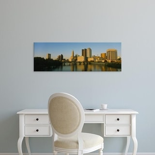 Easy Art Prints Panoramic Image 'High angle view of buildings at the waterfront, Columbus, Ohio, USA' Canvas Art